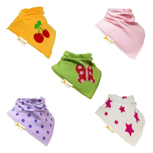 Summer Garden Set of Funky Giraffe Bandana Bibs (Set of 5)