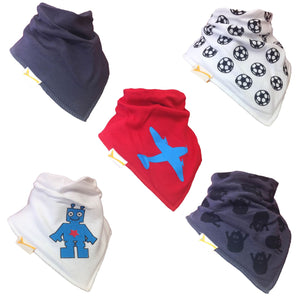 Boys Set of Funky Giraffe Bandana Bibs (Set of 5)