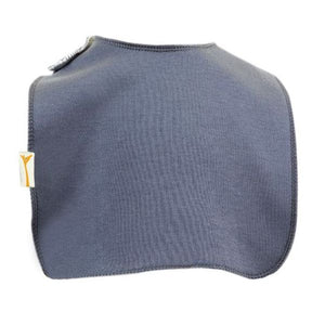 Grey Plain Square Bib