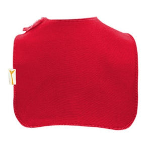 Red Plain Square Bib