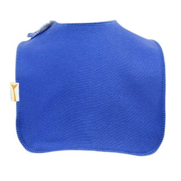 Blue Plain Square Bib