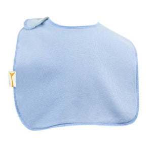Light Blue Plain Square Bib