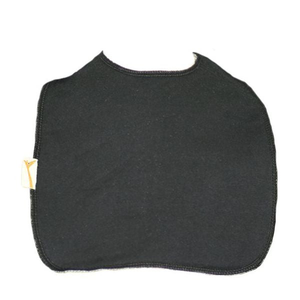 Black Plain Square Bib