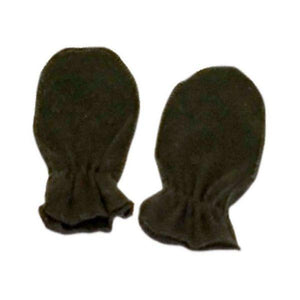 Black Plain Scratch Mittens