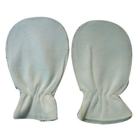 Cream Plain Scratch Mittens