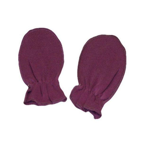Purple Plain Scratch Mittens