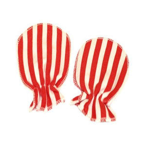 Red & White Stripes Scratch Mittens