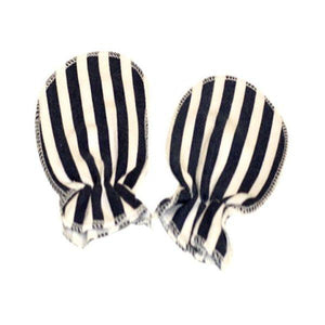 Blue & White Stripes Scratch Mittens