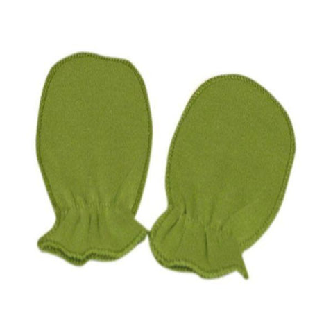 Green Plain Scratch Mittens