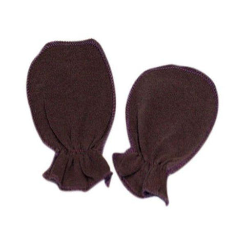 Navy Blue Plain Scratch Mittens