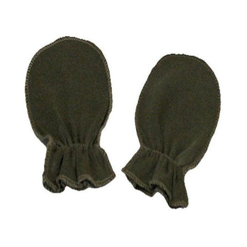 Khaki Green Plain Scratch Mittens
