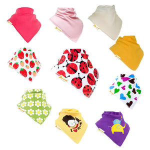 Funky Giraffe Pack 2 Bandana Bibs (Set of 10)