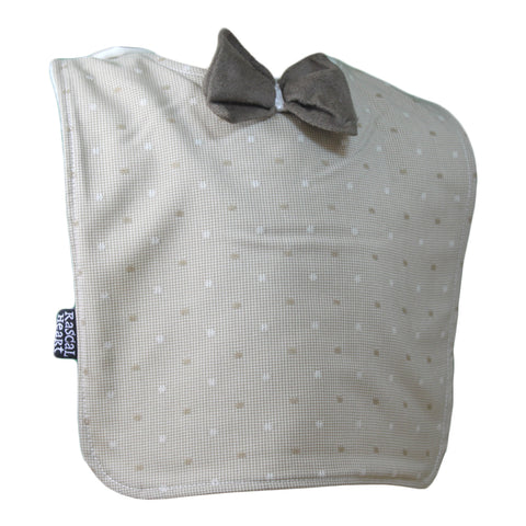 Cream Dotty Fun Rascal Heart Bib