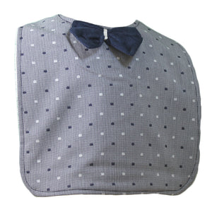 Grey Dotty Fun Rascal Heart Bib