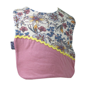 Pink Fancy Floral Rascal Heart Bib
