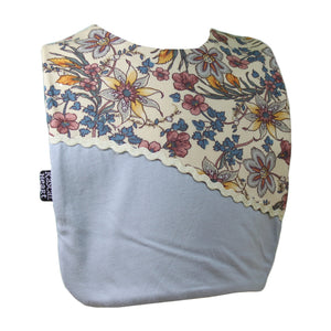 Grey Fancy Floral Rascal Heart Bib
