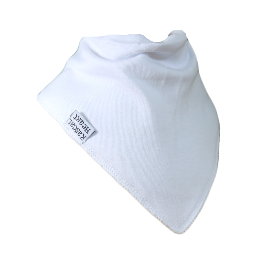 White Plain Rascal Heart Bib