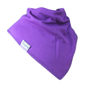 Purple Plain Rascal Heart Bib