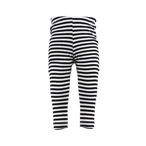 Black & White Stripey Rascal Heart Leggings