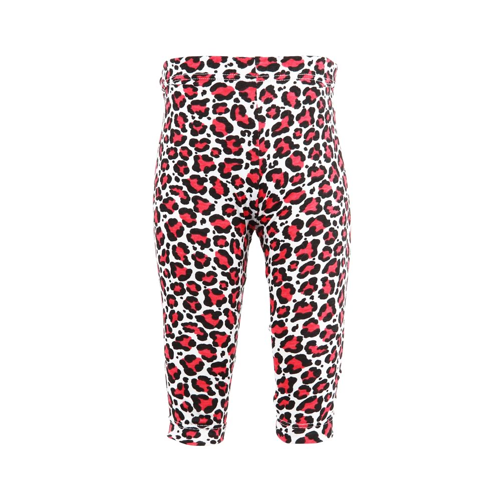 Red Animal Print Rascal Heart Leggings