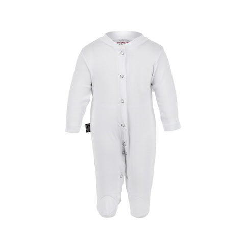 Plain White Rascal Heart Babygrow