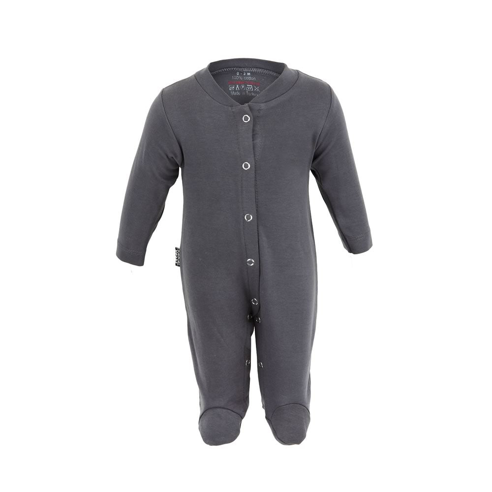 Plain Grey Rascal Heart Babygrow