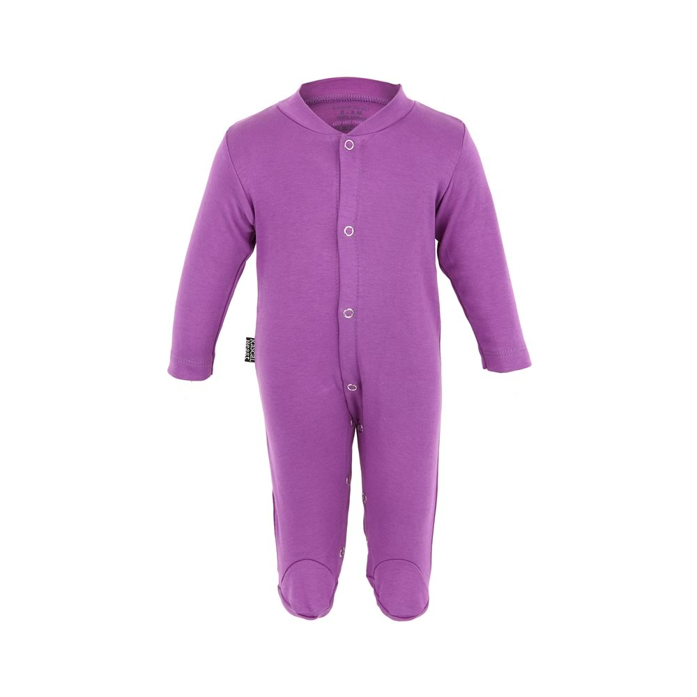 Plain Purple Rascal Heart Babygrow