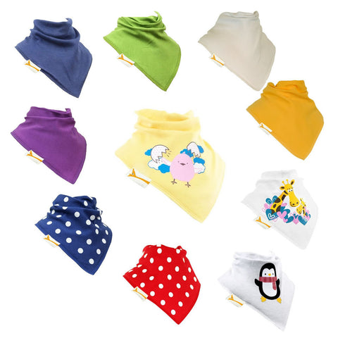 Funky Giraffe Pack 3 Bandana Bibs (Set of 10)