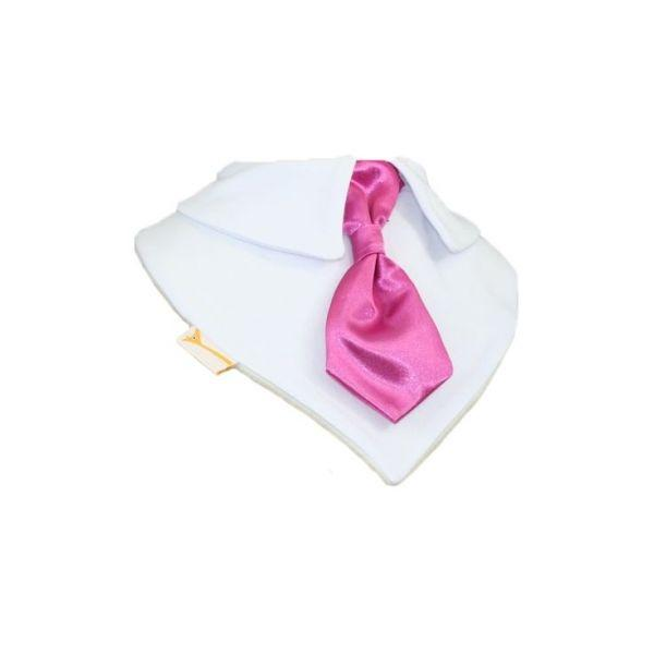 Vibrant Pink Smart Little Tie Special Occasions Bib