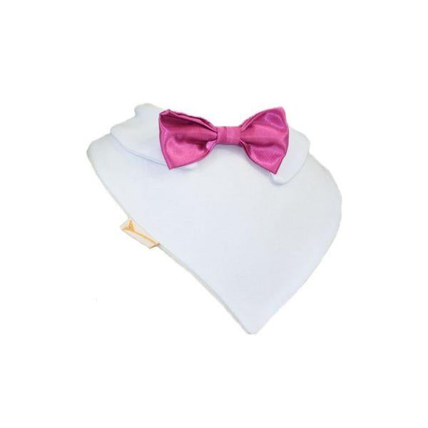 Vibrant Pink Smart Little Bow Tie Special Occasions Bib