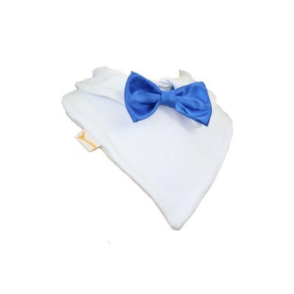 Electric Blue Smart Little Bow Tie Special Occasions Bib