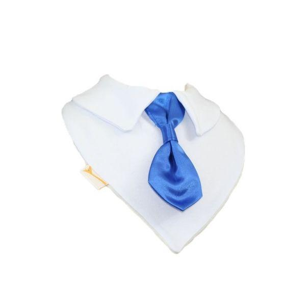 Electric Blue Smart Little Tie Special Occasions Bib