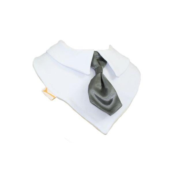 Steel Silvery Smart Little Tie Special Occasions Bib