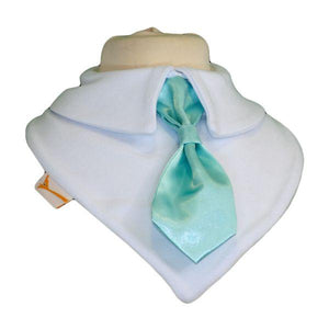 Vibrant Teal Smart Little Tie Special Occasions Bib