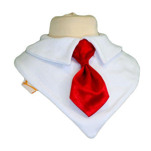 Vibrant Red Smart Little Tie Special Occasions Bib