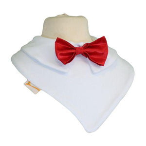 Vibrant Red Smart Little Bow Tie Special Occasions Bib