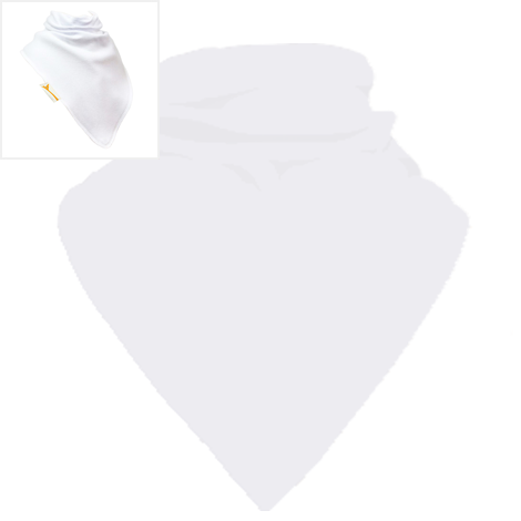 Personalised Sparkling White Plain XL Bandana Bib
