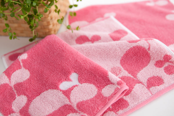 Mirt Heart Leaf | Imabari Luxury Towel, Made of 100% Premium Absorbent Cotton, Great and Spa Quality
