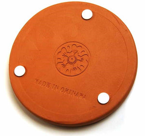 Okinawa Clay Coaster (Shisa) | Absorbent Saver and Clay Coasters, Made from Self-dry Okinawa Clay by roof tile crafters