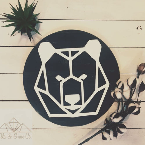 Geo Bear Wall Plaque