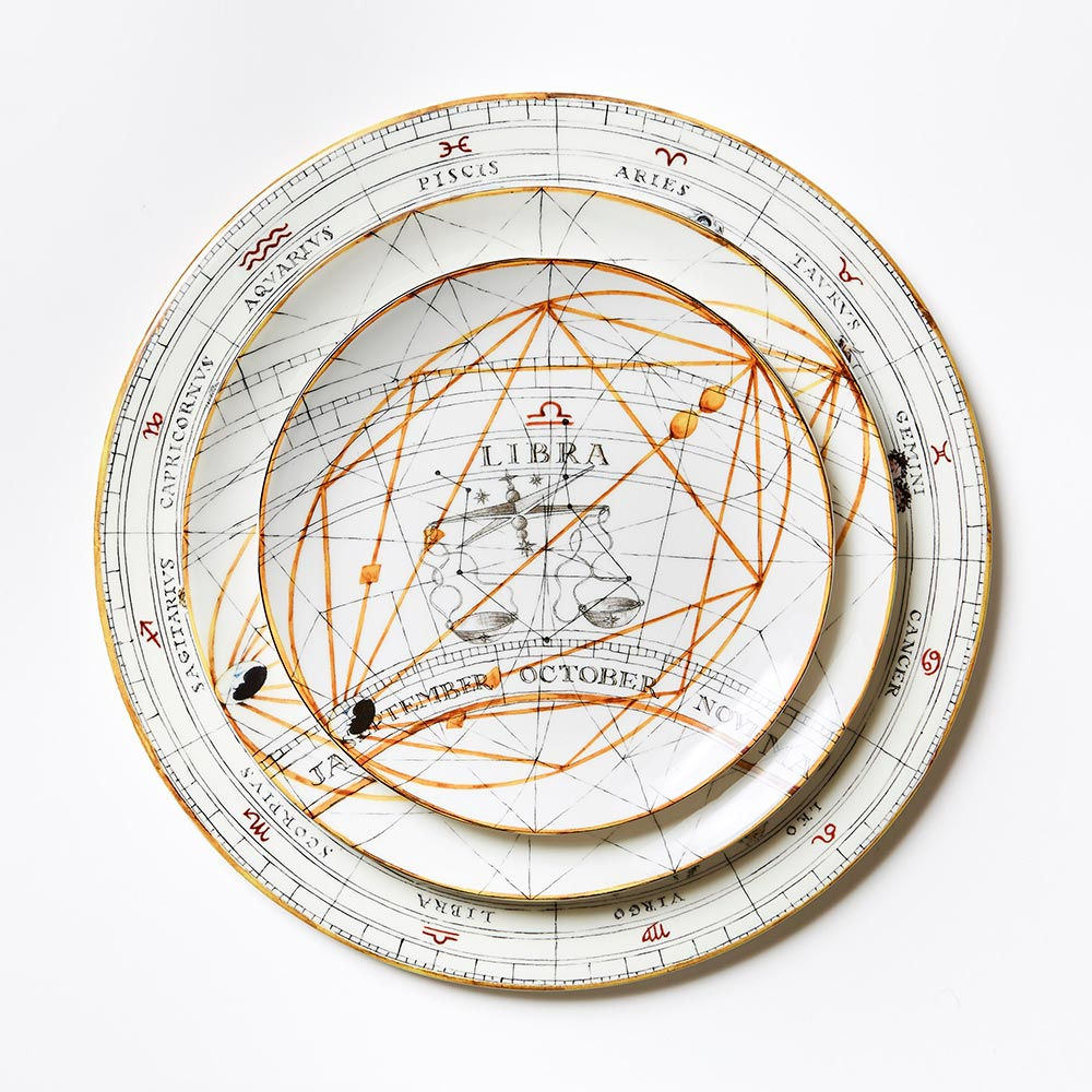 Zodiac Aquarius Dinner Plate (25cm)