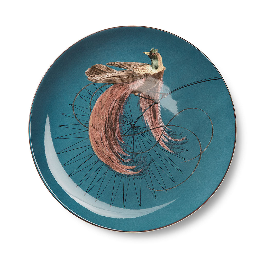 Birds of Paradise Blue Dinner Plate (25cm)