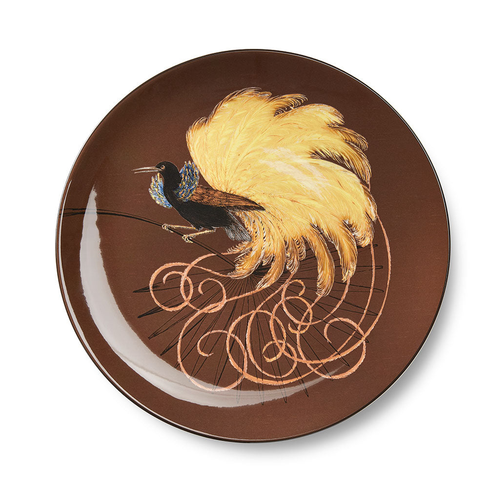 Birds of Paradise Brown Dinner Plate (25cm)