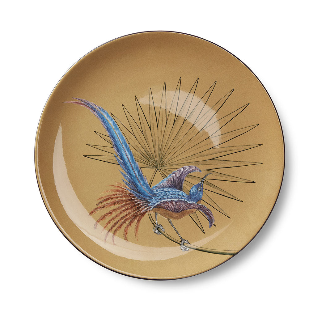 Birds of Paradise Ocher Dinner Plate (25cm)