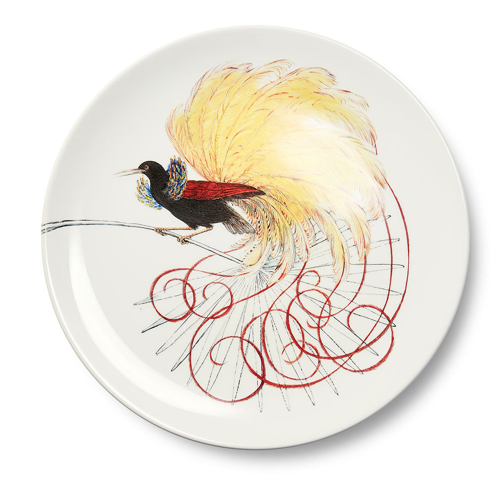 Birds of Paradise White 1 Dinner Plate (25cm)