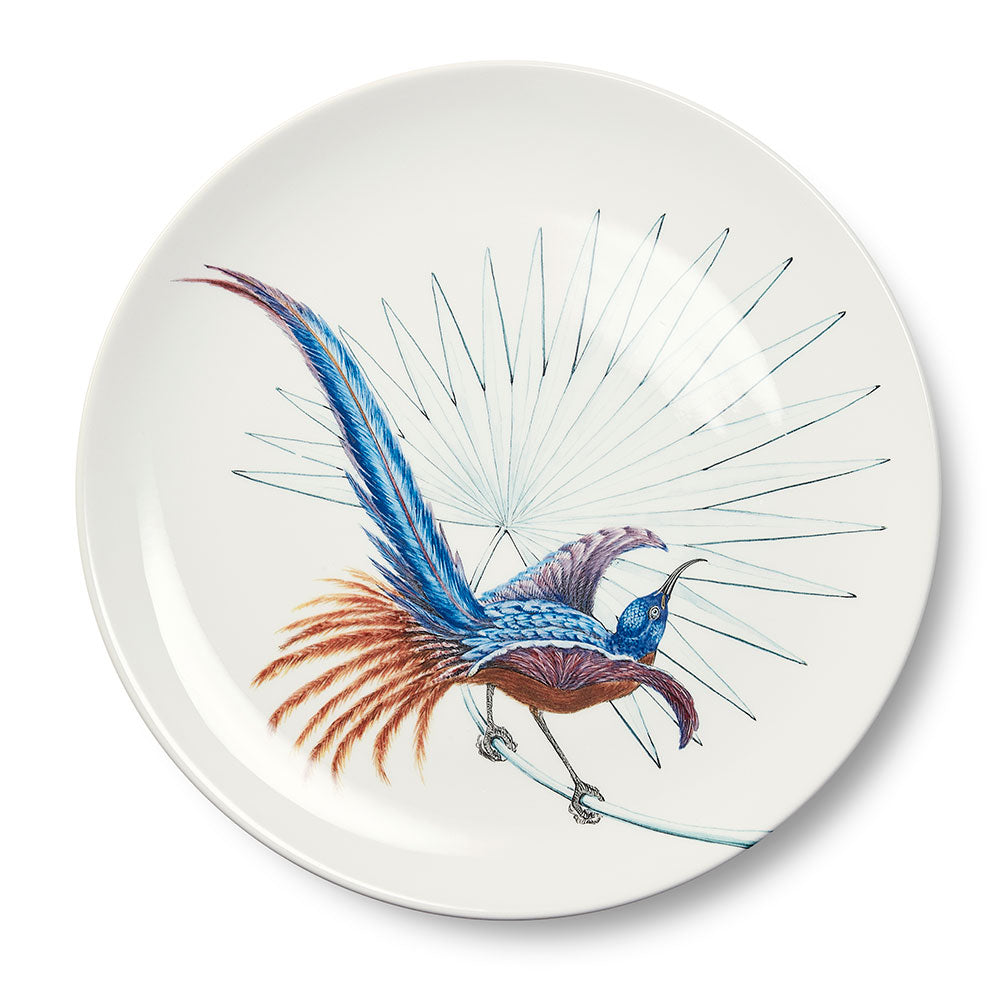 Birds of Paradise White 4 Dinner Plate (25cm)