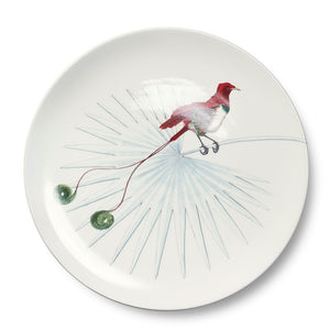 Birds of Paradise White 6 Dinner Plate (25cm)