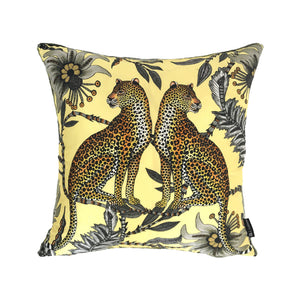 Lovebird Leopards Butter Silk Cushion Cover