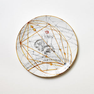 Zodiac Virgo Dinner Plate (25cm)