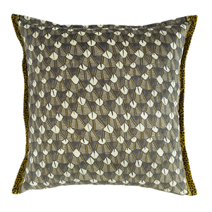 Feather Silver Ripple Velvet Cushion Cover
